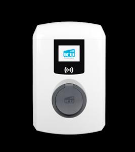 Großaufnahme der ICU Eve Mini Ladebox vor weißem Hintergrund.