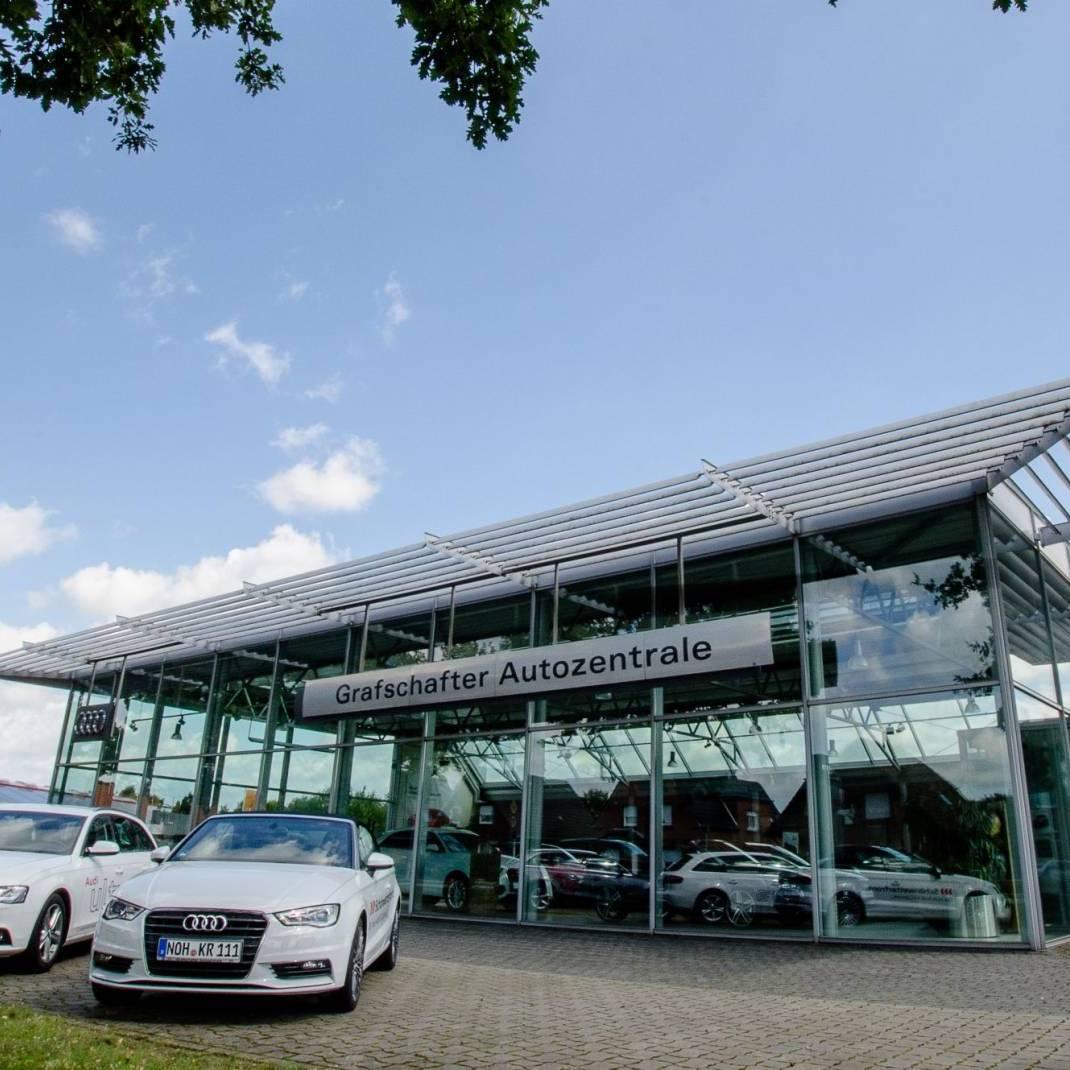 Grafschafter Autozentrale Heinrich Krüp GmbH Außenansicht Audi
