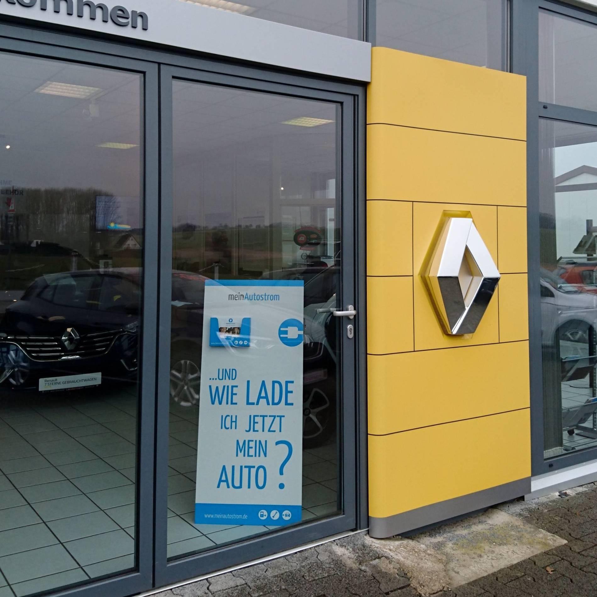 Autohaus Landermann meinAutostrom Aufsteller